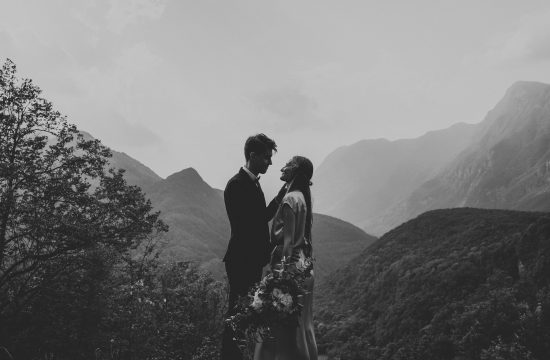 Soca Valley Wedding Couple portrait