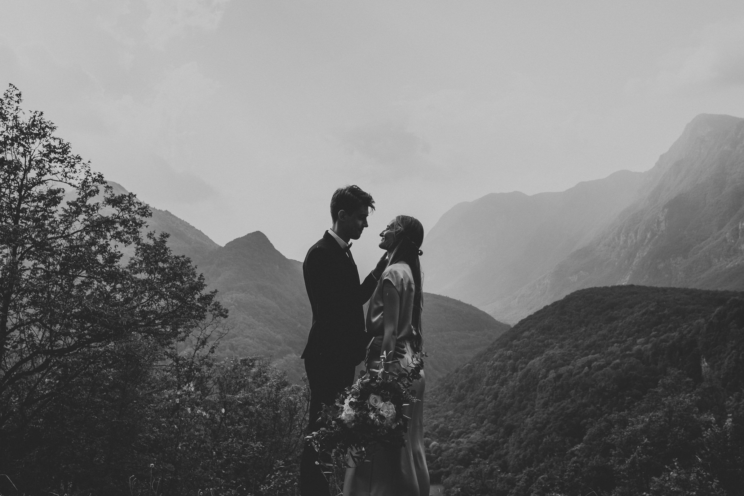 Soca Valley Wedding Couple portrait