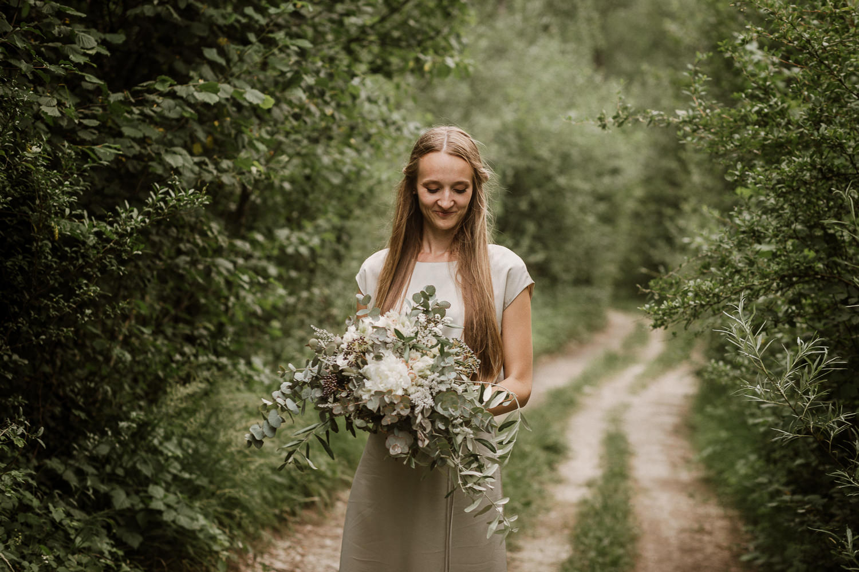 Soca Valley Wedding Slovenia natural bride portrait