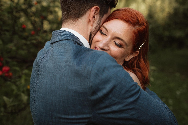 Vineyard Wedding Slovenia couple portrait