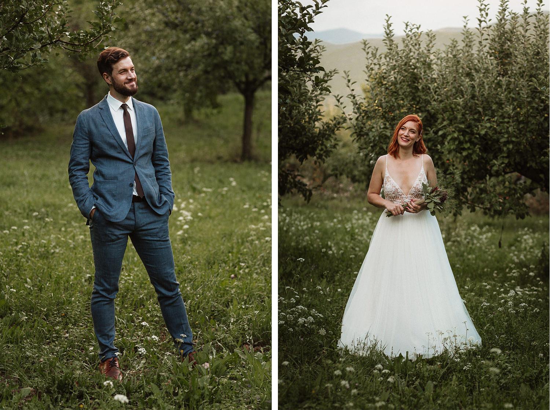 Majerija Vipava Valley wedding couple portraits