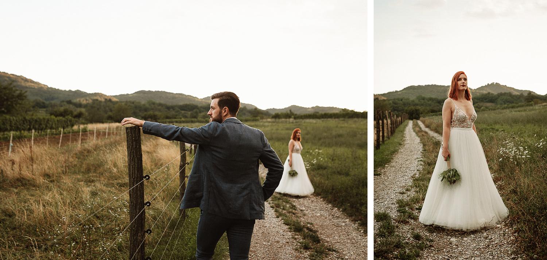 Majerija Vipava Valley vineyard wedding couple portraits