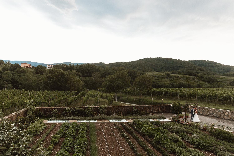 Majerija Vipava Valley vineyard wedding location