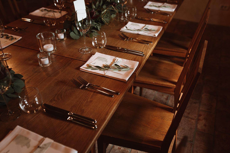 Majerija Vipava Valley vineyard wedding table setting