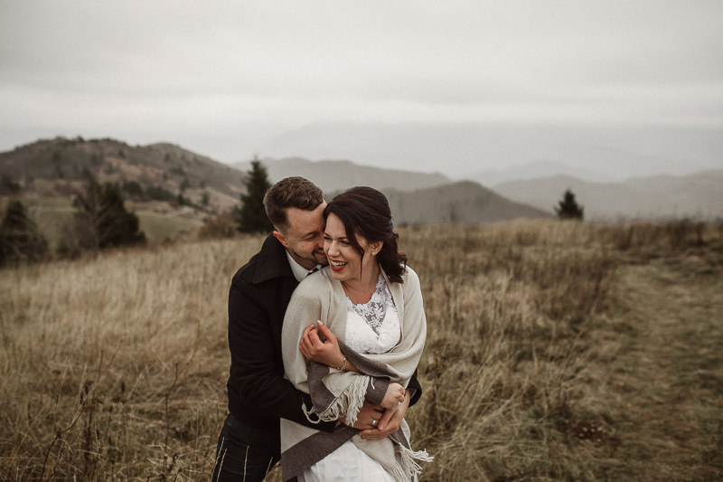Intimate Wedding Couple in Slovenia Highlands
