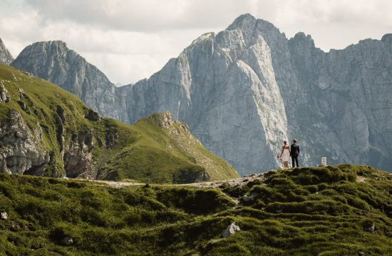Elopement in Slovenian Mountains Mangart Saddle
