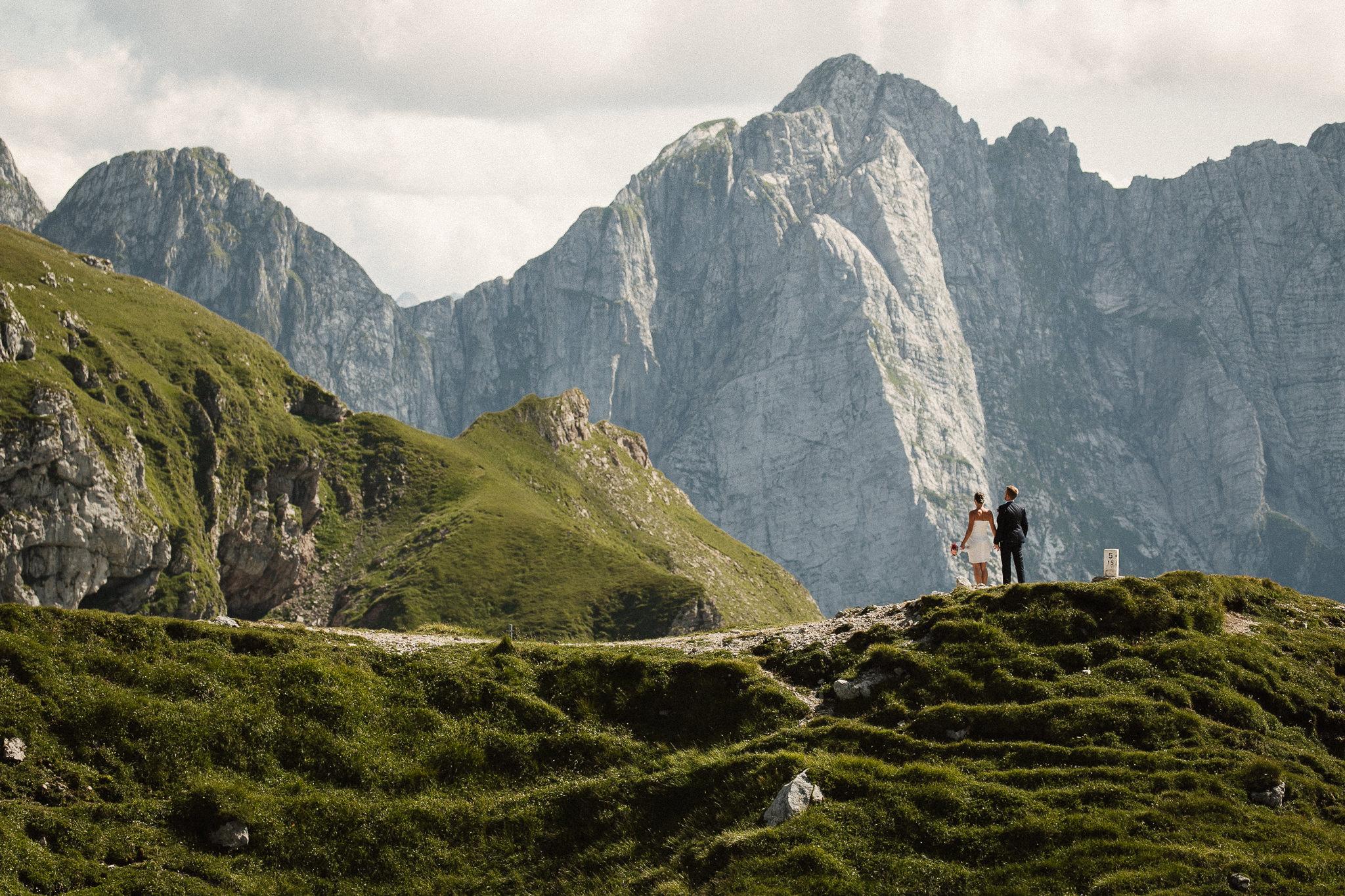 Elopement in Slovenian Mountains Mangart Saddle